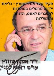 אמיר שוורץ - פקיד סעד ראשי במשרד הרווחה  - התעללות והזנחת ילדים נורמלים במוסדות מפגרים