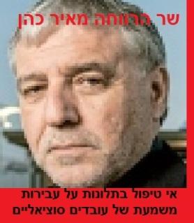 שר הרווחה מאיר כהן - או טיפול בתלונות על עבירות משמעת של עובדים סוציאליים