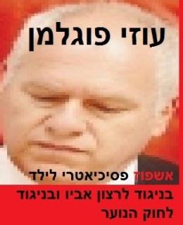 עוזי פוגלמן - אשפוז פסיכיאטרי בכפיה לקטין בניגוד לרצון אביו ובניגוד לחוק הנוער