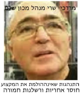 מרדכי שרי - מנהל מכון שלם: התנהגות שאינה הולמת את המקצוע, חוסר אחריות ורשלנות חמורה