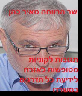 שר הרווחה מאיר כהן - תגובות לקוניות מטופשות לאזרח בידיעת כל הדרגים במשרדו
