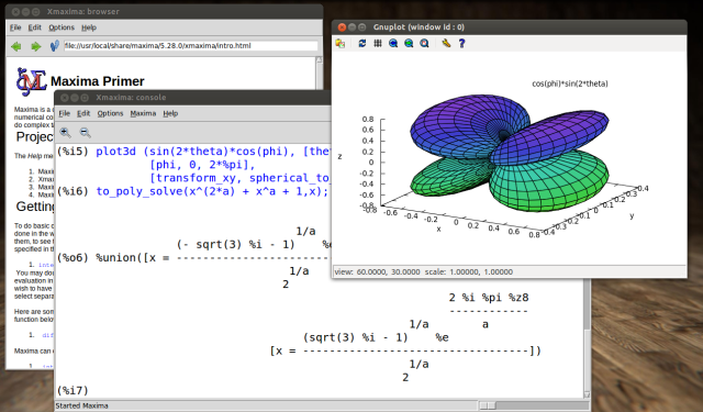 מקסימה - תוכנה מתמטית לחישובים סימבולים - Maxima