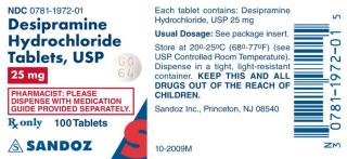 דסיפרמין - Desipramine - תופעות לוואי