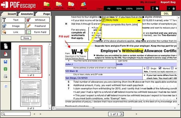 PDFescape  - שולחן עבודה