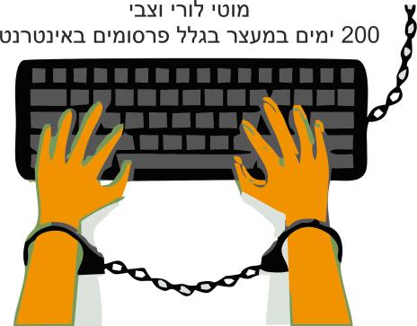 מוטי לורי וצבי 200 ימים במעצר בגלל פרסומים באינטרנט