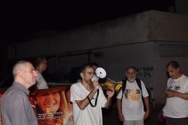 מחאה מול בית שרת המשפטים על מעצר הבלוגרים