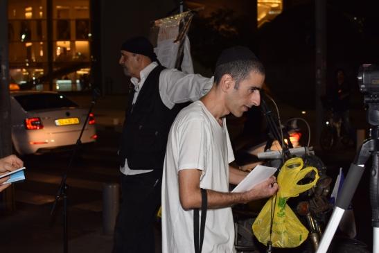 מחאה ליד כיכר הבימה על מעצר הבלוגרים