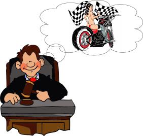 איור - שופט אופנוע